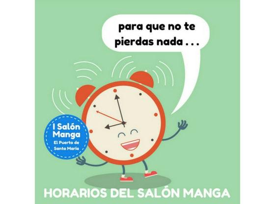 Horarios de actividades - Salón Manga de El Puerto de Santa María