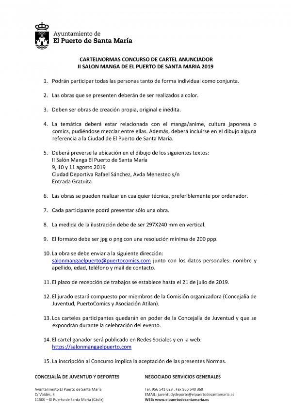 Normas Concurso Cartel Anunciador - Edición 2019